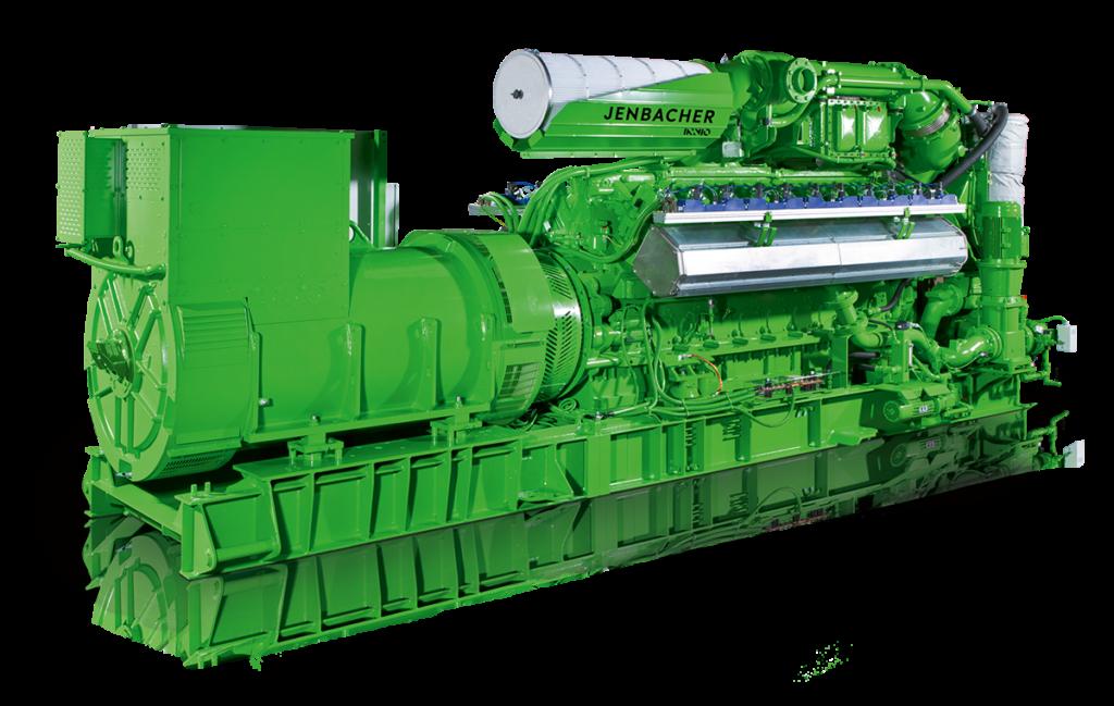 Technické specifikace kogenerační jednotky Jenbacher typ 4